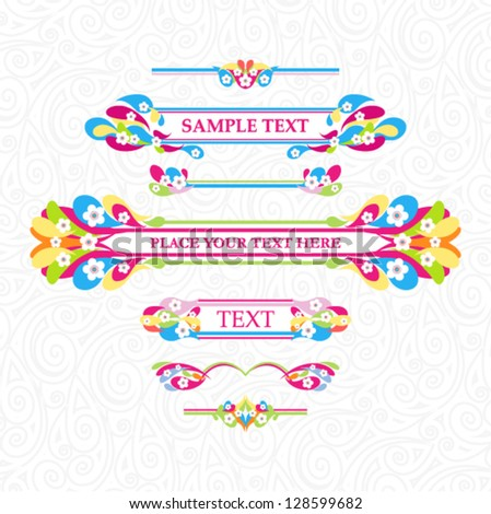 Vector banners with bright floral ornament