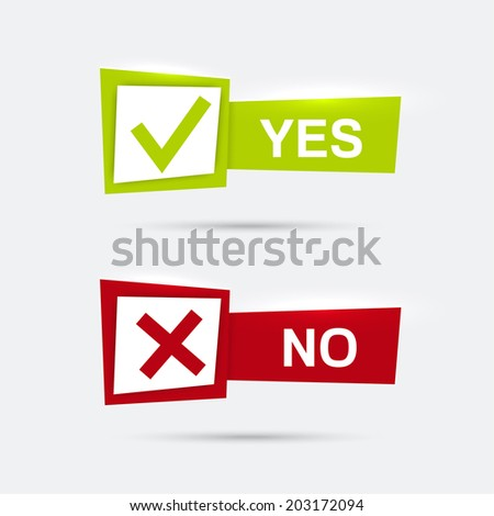 Vector banners with check marks confirmation ストックフォト ©