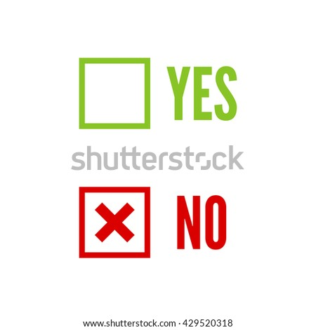 Vector banners with check marks confirmation, acceptance positive passed voting agreement true. ストックフォト ©
