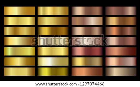 Vector Banners with gold and bronze gradient texture backgrounds. Website headers. Vector golden and beige mesh design for your banners, headers, footers, flyers, cards, posters, report etc. EPS10