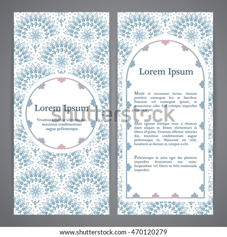 vector banners with mandala in