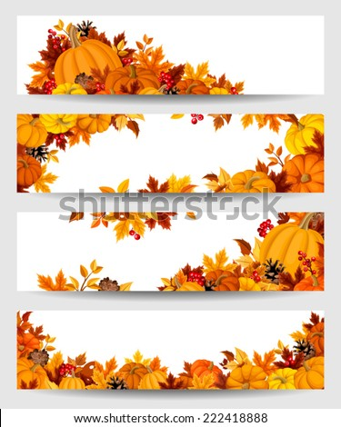 vector banners with orange