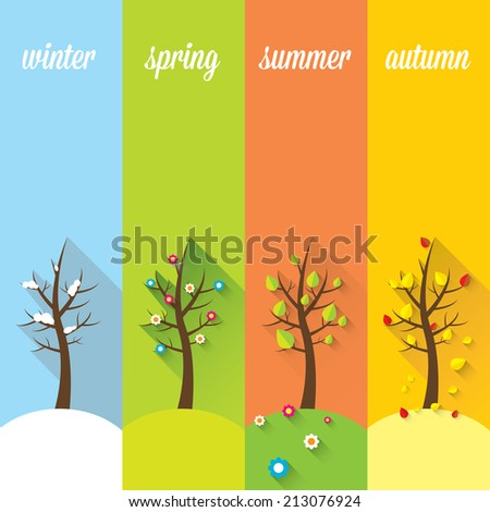 vector banners with winter