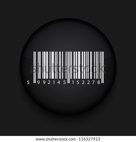 Vector bar code icon. Eps10. Easy to edit