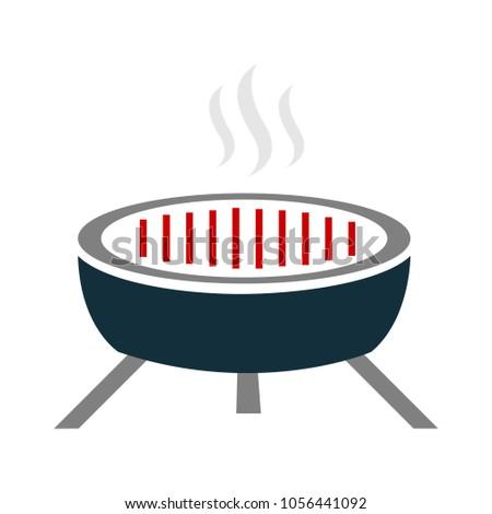 vector barbecue grill