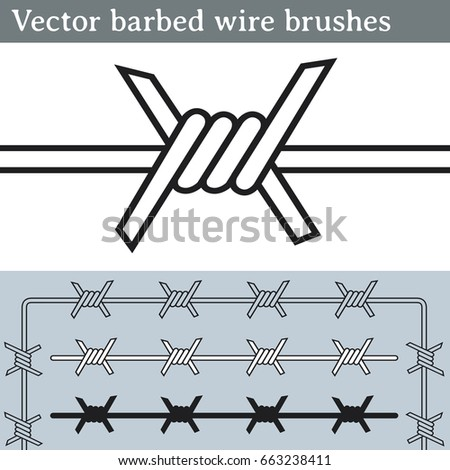 vector barbed wire brushes