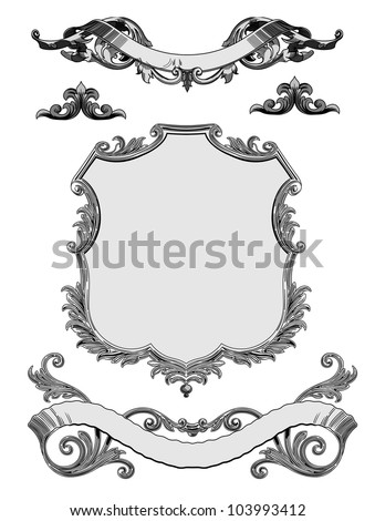 Vector - baroque frames and decorative elements