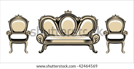 Vector baroque objects