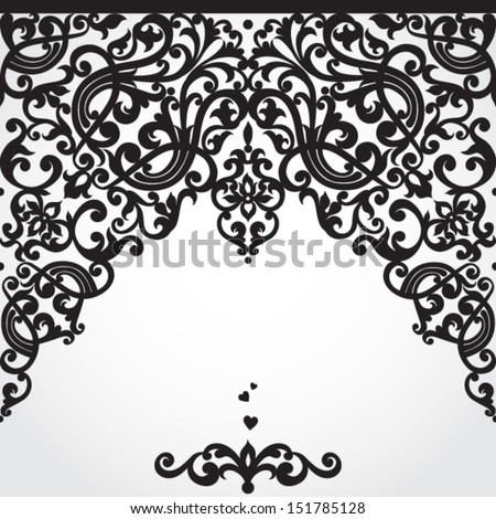 Vector baroque seamless border in Victorian style  Element for design    Victorian Style Borders