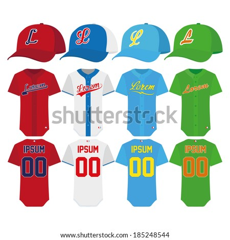 stock-vector-vector-baseball-elements-isolated-on-white-background
