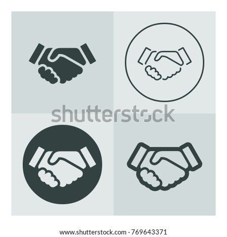 vector basic icon set of