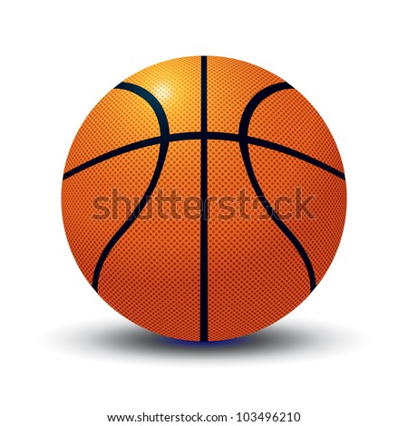 Vector basketball ball.