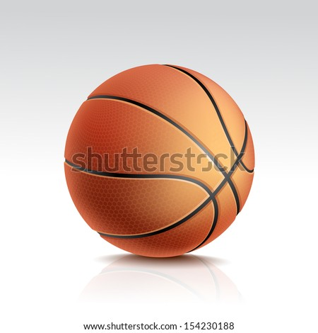 vector basketball ball isolated