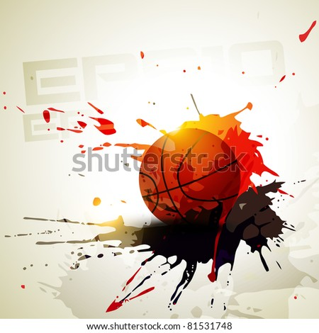 vector basketball in grunge style