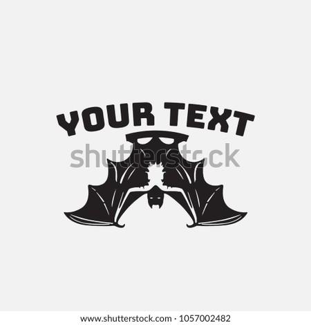 Stock Photo vector bat illustration for logo