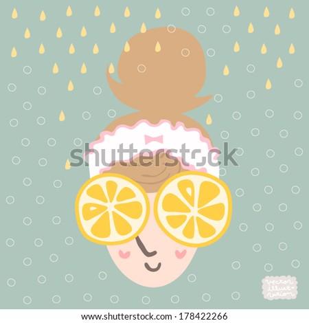 Vector Bath time Lemon pack Illustration
