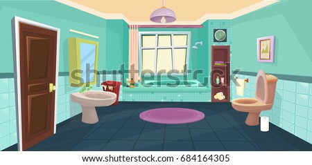 Vector Bathroom / cartoon bathroom