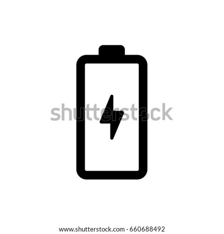 Vector battery charging icon sign