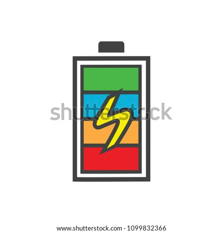 vector Battery charging - power Battery illustration, electricity symbol - energy sign