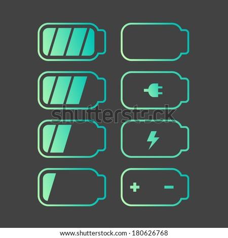 Vector Battery Icon set