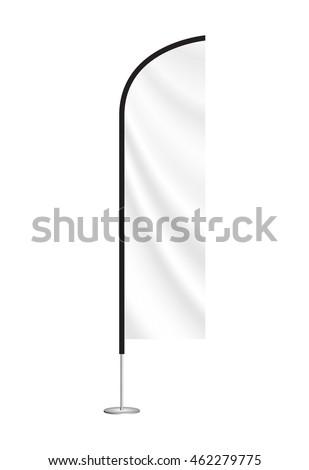 Vector beach flag mockup. blank event flag. advertising feather flag. blade flag #462279775