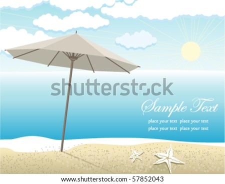 Vector beach landscape