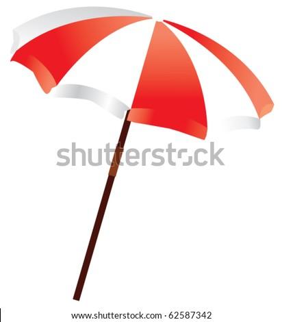 vector beach umbrella - stock vector