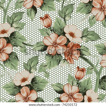 Vector. Beautiful background with flower drawing.