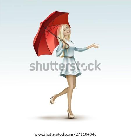 vector beautiful blonde woman