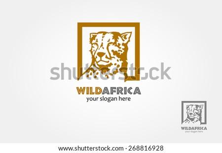 Vector beautiful Cheetah's face - vector logo illustration
