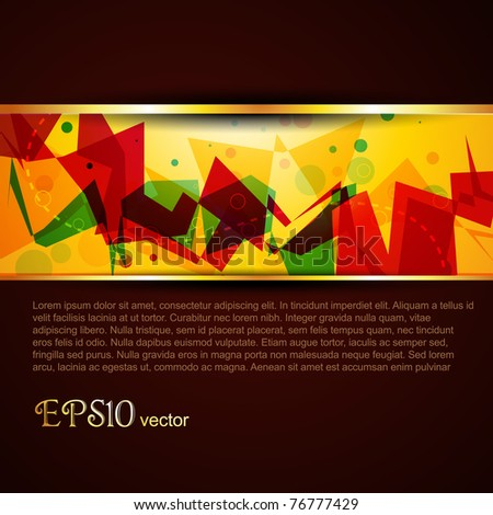 vector beautiful colorful template design art