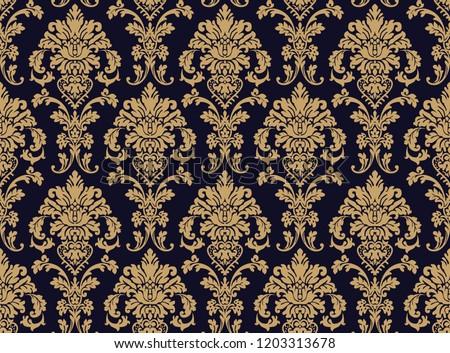 vector beautiful damask pattern