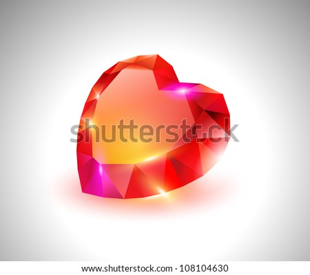 vector beautiful diamond heart
