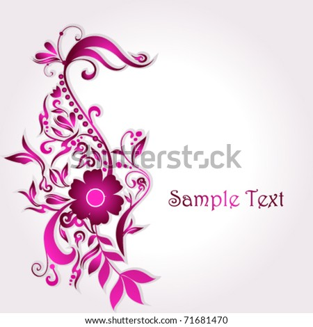 Vector beautiful floral background illustration