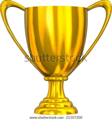 VECTOR: Beautiful golden trophy cup