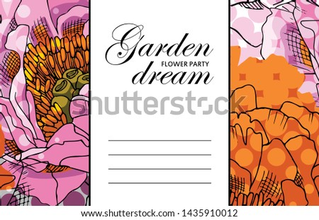 vector beautiful greeting card