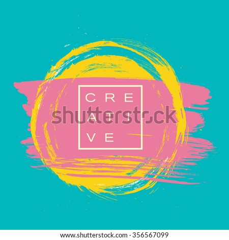 Vector beautiful handmade splash and strokes background. #356567099