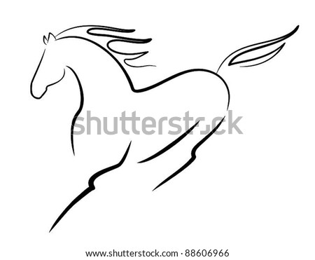 vector beautiful horse