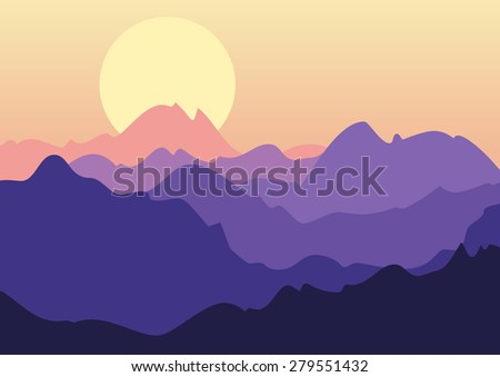 vector beautiful landscape