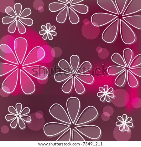 Vector beautiful spring flowers background illustration - stock vector