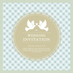 Vector beautiful template frame design for wedding card. Perfect as invitation or announcement.