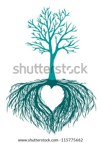 vector beautiful tree with the