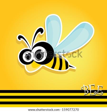 vector bee icon cartoon cute
