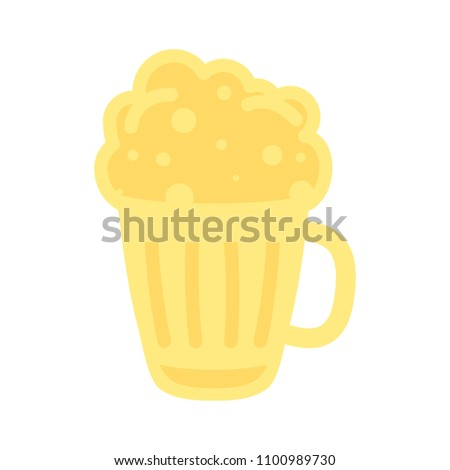 vector beer glass illustration, mug symbol - drink alcohol sign