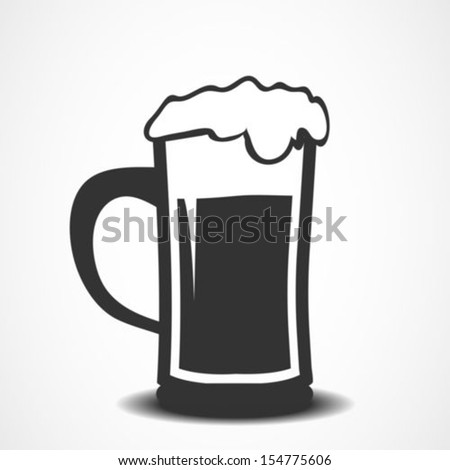 Vector beer icon.