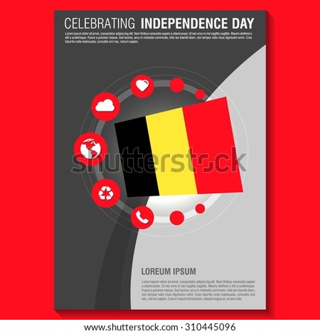 vector belgium independence day