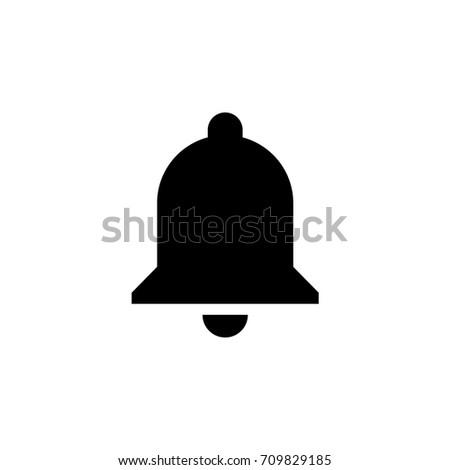 Vector bell alarm notification icon