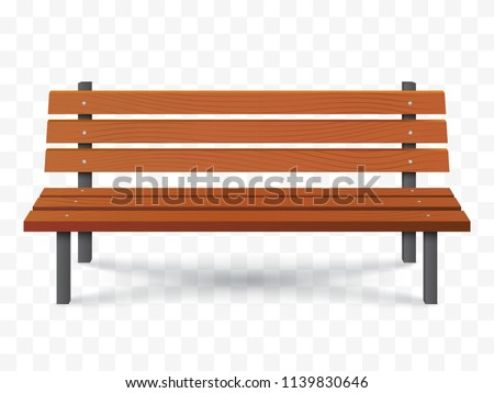 Vector Bench isolated. Park wooden bench illustration Сток-фото ©
