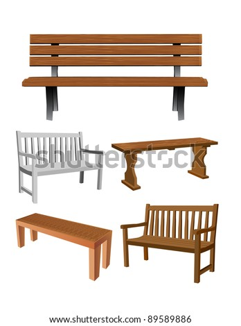 Vector Bench Set - 89589886 : Shutterstock