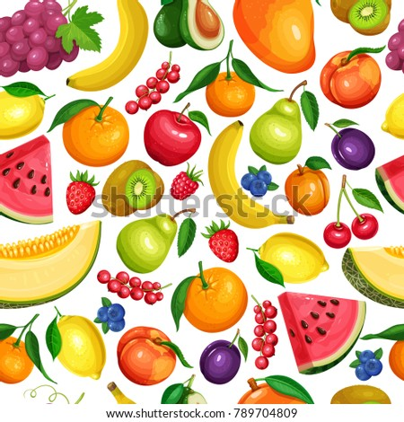 vector berries and fruits
